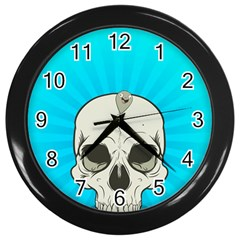 Skull Ball Line Schedule Wall Clocks (Black)