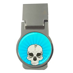 Skull Ball Line Schedule Money Clips (round)