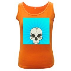 Skull Ball Line Schedule Women s Dark Tank Top