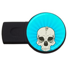 Skull Ball Line Schedule USB Flash Drive Round (4 GB)