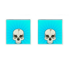 Skull Ball Line Schedule Cufflinks (Square)