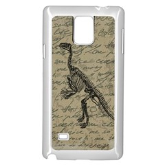 Dinosaur skeleton Samsung Galaxy Note 4 Case (White)