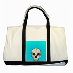 Skull Ball Line Schedule Two Tone Tote Bag