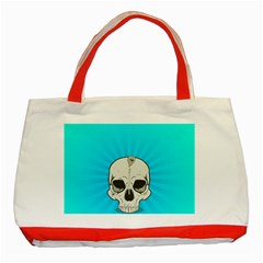 Skull Ball Line Schedule Classic Tote Bag (Red)