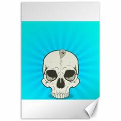 Skull Ball Line Schedule Canvas 24  x 36