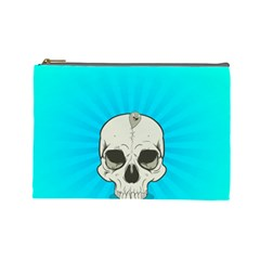 Skull Ball Line Schedule Cosmetic Bag (large)