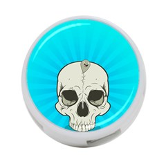 Skull Ball Line Schedule 4 Port Usb Hub (one Side)