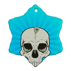 Skull Ball Line Schedule Snowflake Ornament (two Sides)