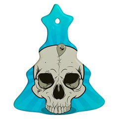Skull Ball Line Schedule Christmas Tree Ornament (Two Sides)