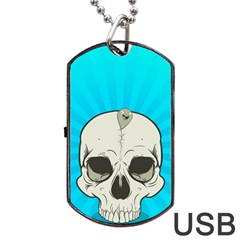 Skull Ball Line Schedule Dog Tag USB Flash (Two Sides)
