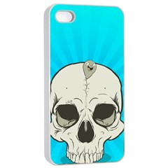 Skull Ball Line Schedule Apple iPhone 4/4s Seamless Case (White)