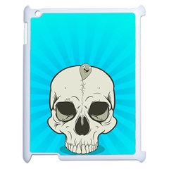 Skull Ball Line Schedule Apple iPad 2 Case (White)