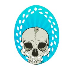 Skull Ball Line Schedule Ornament (oval Filigree)