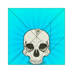 Skull Ball Line Schedule Acrylic Tangram Puzzle (6  x 6 )