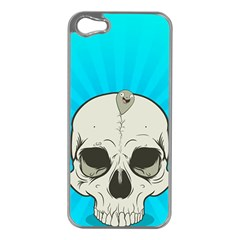 Skull Ball Line Schedule Apple iPhone 5 Case (Silver)