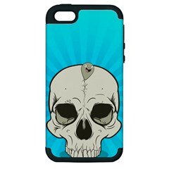 Skull Ball Line Schedule Apple iPhone 5 Hardshell Case (PC+Silicone)