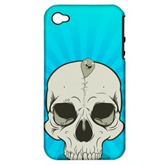 Skull Ball Line Schedule Apple iPhone 4/4S Hardshell Case (PC+Silicone)