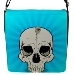 Skull Ball Line Schedule Flap Messenger Bag (S)