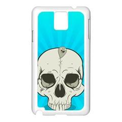 Skull Ball Line Schedule Samsung Galaxy Note 3 N9005 Case (White)