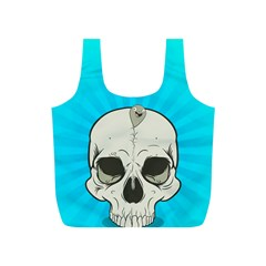 Skull Ball Line Schedule Full Print Recycle Bags (S)