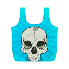 Skull Ball Line Schedule Full Print Recycle Bags (M)