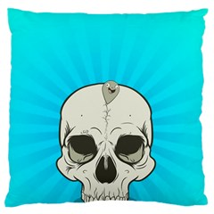 Skull Ball Line Schedule Large Flano Cushion Case (One Side)