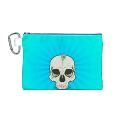 Skull Ball Line Schedule Canvas Cosmetic Bag (M)