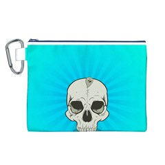 Skull Ball Line Schedule Canvas Cosmetic Bag (L)