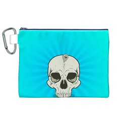 Skull Ball Line Schedule Canvas Cosmetic Bag (xl)