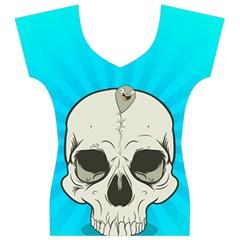 Skull Ball Line Schedule Women s V-Neck Cap Sleeve Top