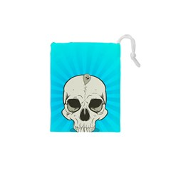 Skull Ball Line Schedule Drawstring Pouches (XS)