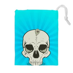 Skull Ball Line Schedule Drawstring Pouches (Extra Large)