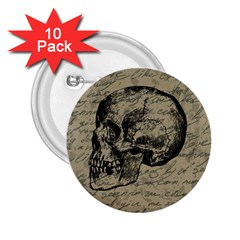 Skull 2.25  Buttons (10 pack)