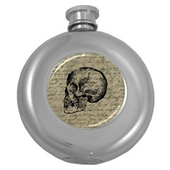 Skull Round Hip Flask (5 oz)