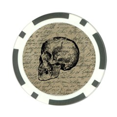 Skull Poker Chip Card Guard