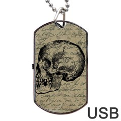 Skull Dog Tag USB Flash (Two Sides)