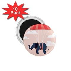 Digital Slon Parashyut Vektor 1.75  Magnets (10 pack)