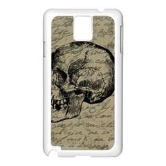 Skull Samsung Galaxy Note 3 N9005 Case (White)