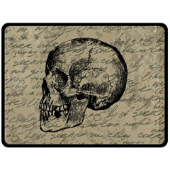 Skull Double Sided Fleece Blanket (large)