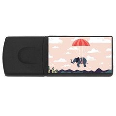 Digital Slon Parashyut Vektor USB Flash Drive Rectangular (4 GB)