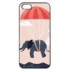 Digital Slon Parashyut Vektor Apple iPhone 5 Seamless Case (Black)