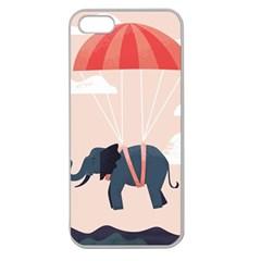 Digital Slon Parashyut Vektor Apple Seamless iPhone 5 Case (Clear)