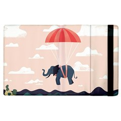 Digital Slon Parashyut Vektor Apple Ipad 2 Flip Case