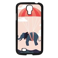 Digital Slon Parashyut Vektor Samsung Galaxy S4 I9500/ I9505 Case (Black)