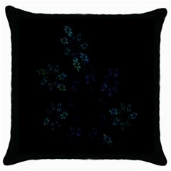 Fractal Pattern Black Background Throw Pillow Case (Black)
