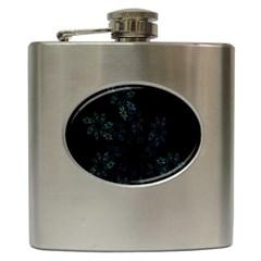 Fractal Pattern Black Background Hip Flask (6 oz)