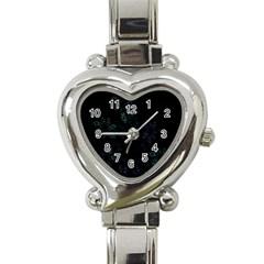 Fractal Pattern Black Background Heart Italian Charm Watch