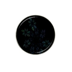Fractal Pattern Black Background Hat Clip Ball Marker