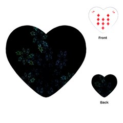 Fractal Pattern Black Background Playing Cards (heart)