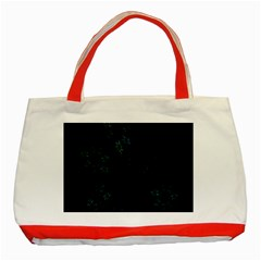 Fractal Pattern Black Background Classic Tote Bag (Red)